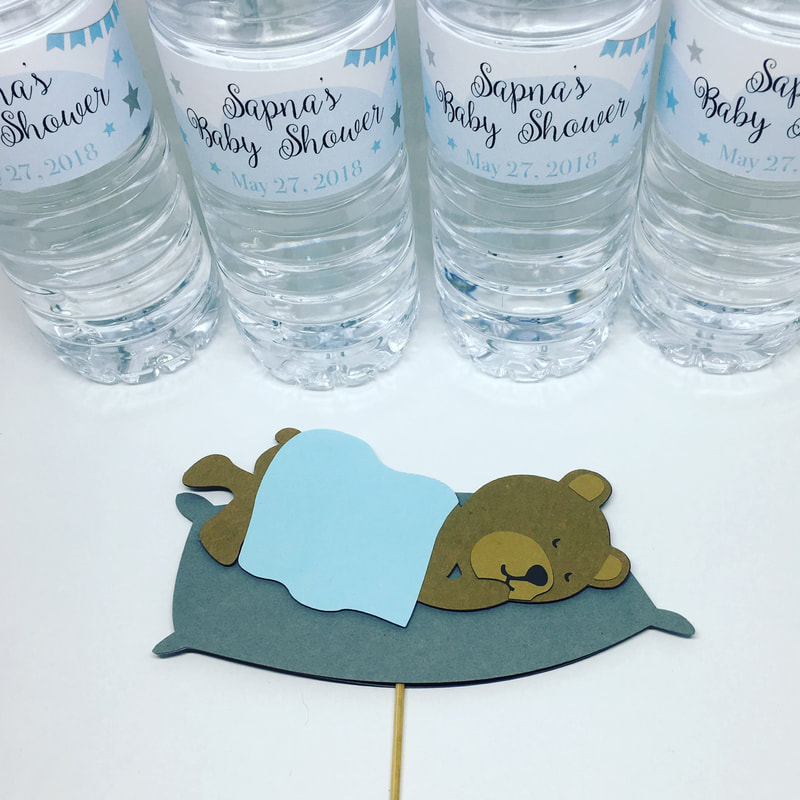 Custom Water Bottle Labels & Custom Photobooth Props by Pulp Creations MD