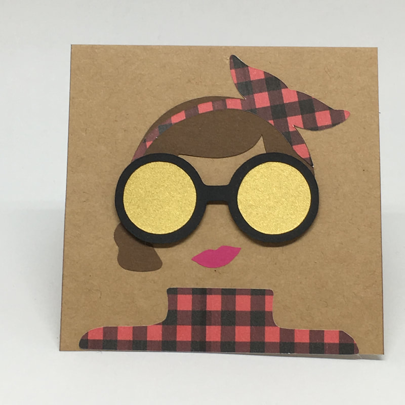 Mini Hipster Girl Card by Pulp Creations MD