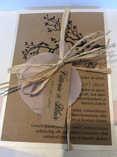Custom Apple Tree Wedding Invite by Pulp Creations MD