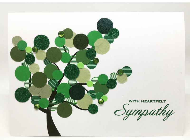 With Heartfelt Sympathy Circles Card by Pulp Creations MD